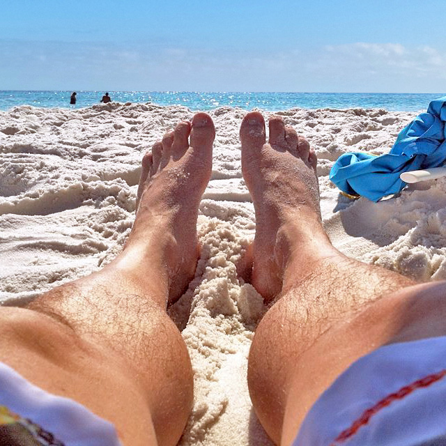 Relaxing on the beach in Destin